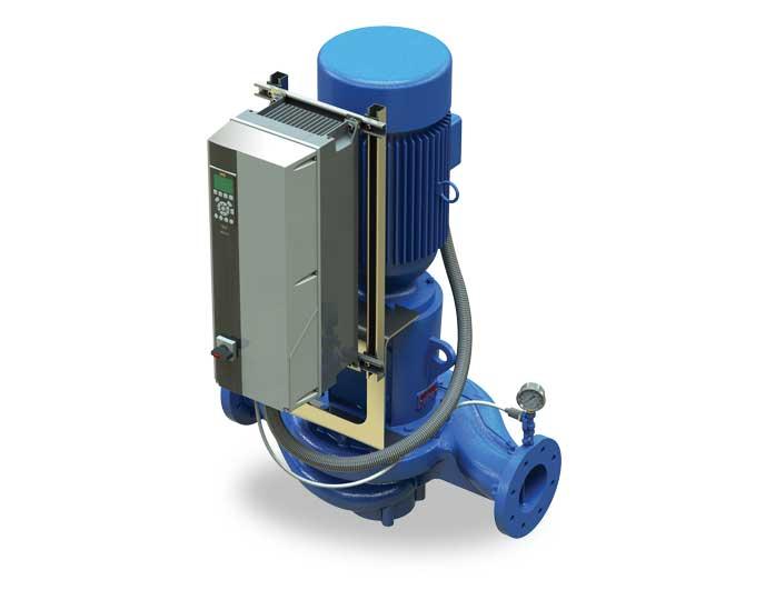 Inline pump with VFD