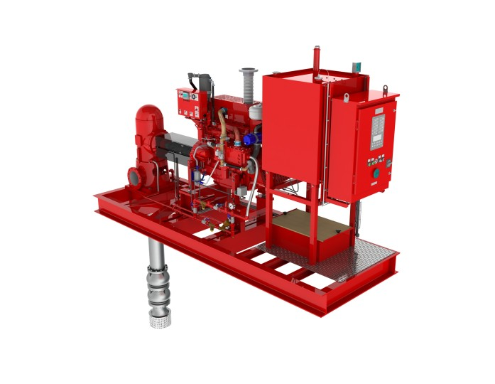Vertical turbine diesel fire pump